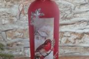 Фото 27 45+ идей декупажа бутылок к Новому году