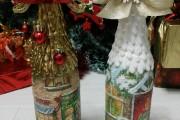 Фото 12 45+ идей декупажа бутылок к Новому году