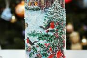 Фото 2 45+ идей декупажа бутылок к Новому году