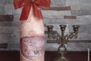 Фото 30 45+ идей декупажа бутылок к Новому году