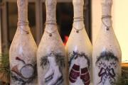 Фото 13 45+ идей декупажа бутылок к Новому году