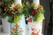 Фото 4 45+ идей декупажа бутылок к Новому году