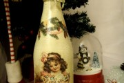 Фото 26 45+ идей декупажа бутылок к Новому году