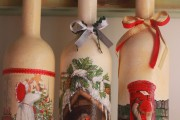 Фото 18 45+ идей декупажа бутылок к Новому году