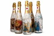 Фото 31 45+ идей декупажа бутылок к Новому году 2021
