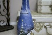 Фото 19 45+ идей декупажа бутылок к Новому году