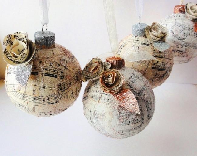 Шикарные елочные шары ручной работы в винтажном стиле