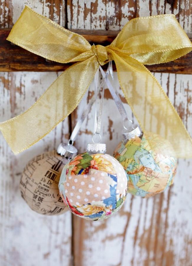 Для создания новогодних шаров ручной работы достаточно включить фантазию и настроиться на праздничную волну
