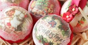 50+ идей декупажа елочных шаров своими руками фото