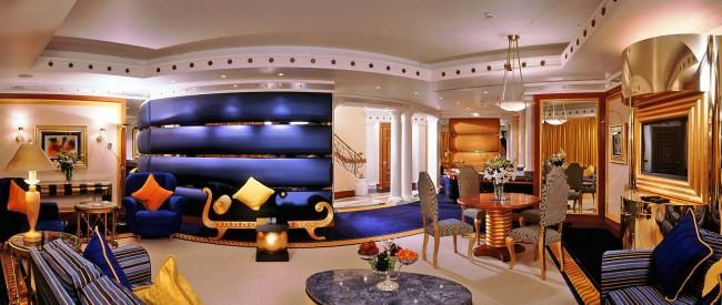 Объединение современного дизайна с египетским направлением заключается по большей части в правильном цветовом оформлении