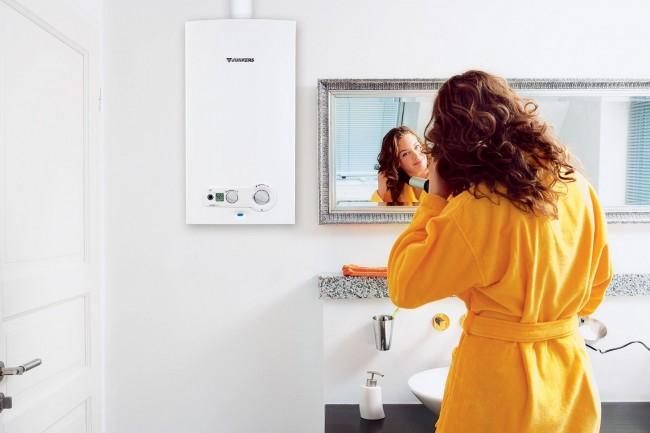 Электрический котел отопления в ванной комнате