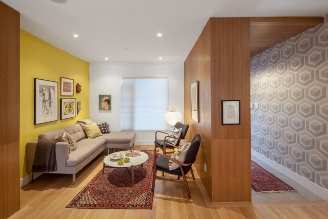 Небольшая уютная комната в стиле модерн