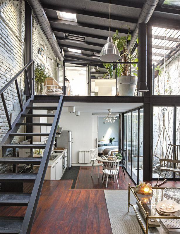 Как правило, индустриальный стиль предполагает большие просторные помещения