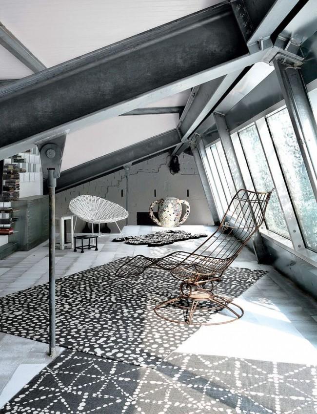 Серость металла и бетона может быть на удивление гармоничной и уютной