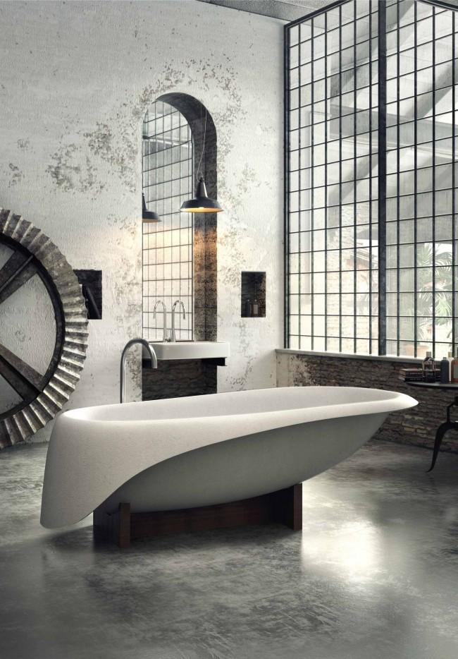 Дорого, стильно и вкусно - только так можно охарактеризовать эту ванную комнату
