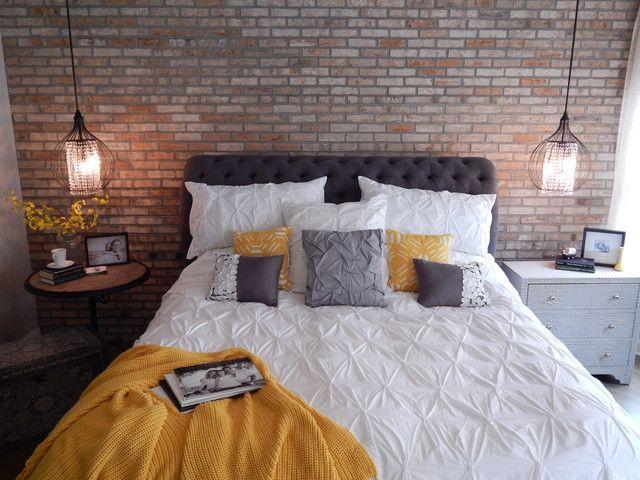 Индастриал-спальня в теплых тонах