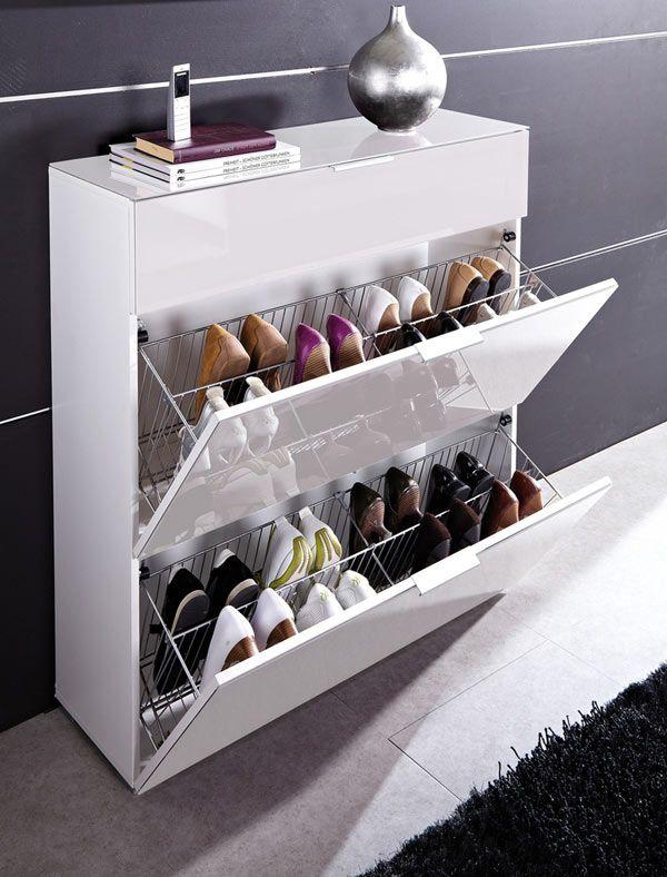 Более совершенный вариант калошницы — обувной шкаф-слим