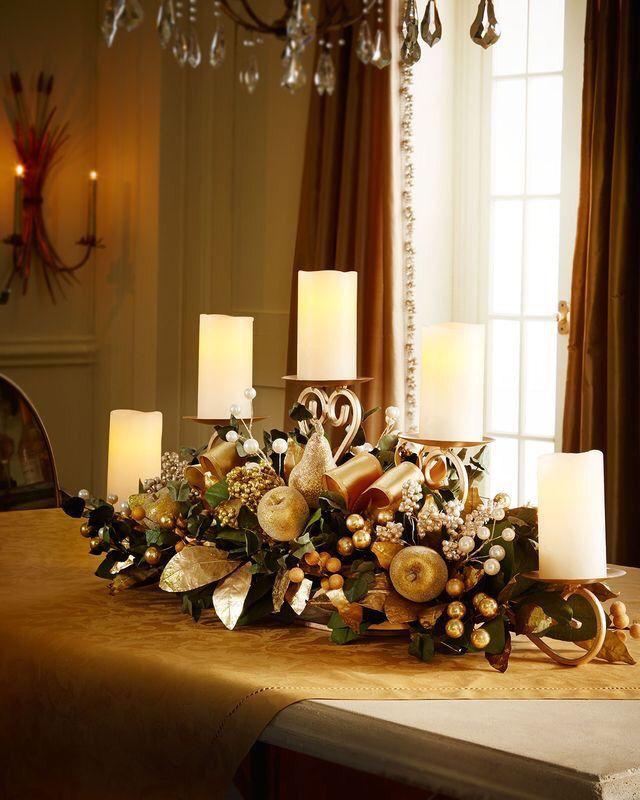 Составьте красивую композицию и разместите в центре стола