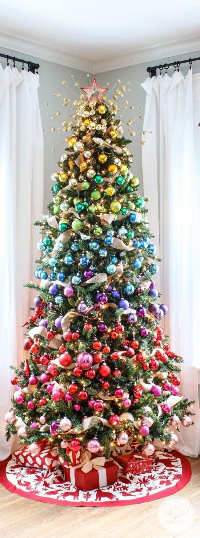 Оригинальная идея оформления шарами - в порядке радужных цветов