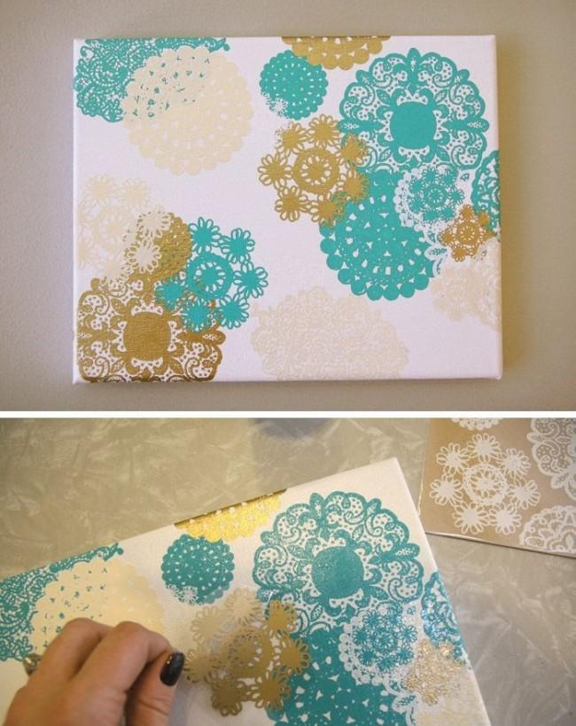 Отличным решением могут стать ажурные бумажные салфетки
