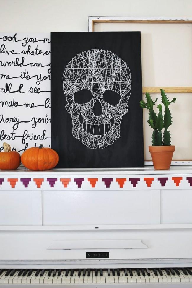 Оригинальное украшение стены к Хэллоуину