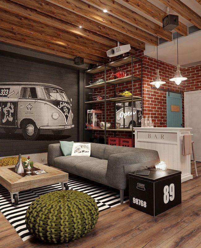 60 идей кирпичной стены в интерьере