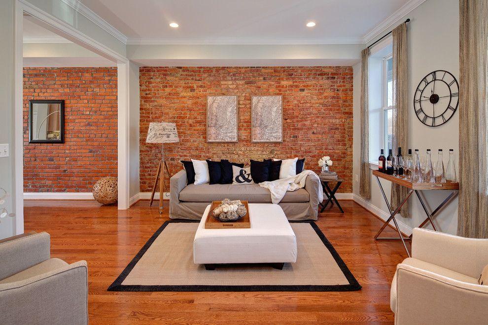 Декоративный кирпич белый в интерьере гостиной фото