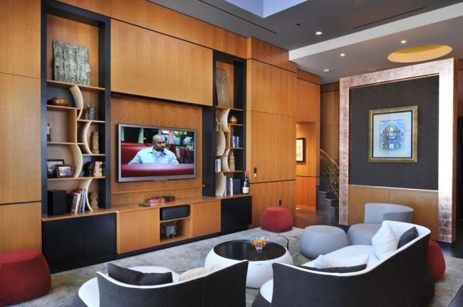 Красивый зал в стиле модерн