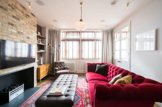Стильный интерьер небольшой гостиной