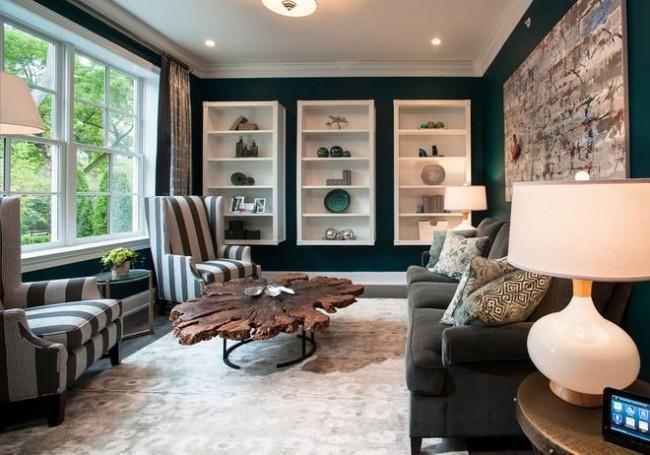 В комнатах прямоугольной формы следует большое внимание уделить расстановке мебели
