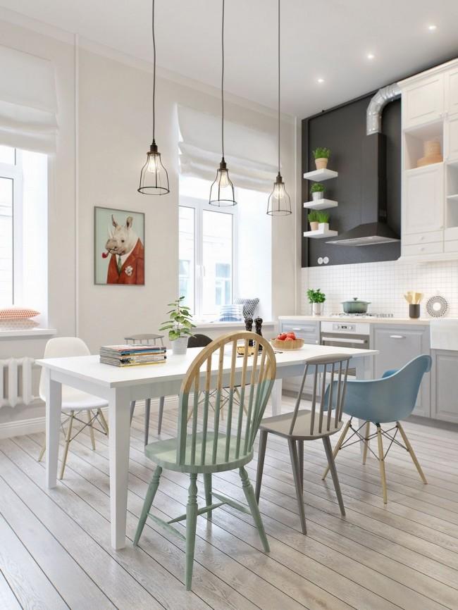 Светлая творческая кухня
