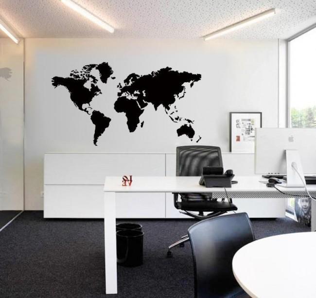 Стильные, сдержанные наклейки на стену лучше всего подойдут для офиса