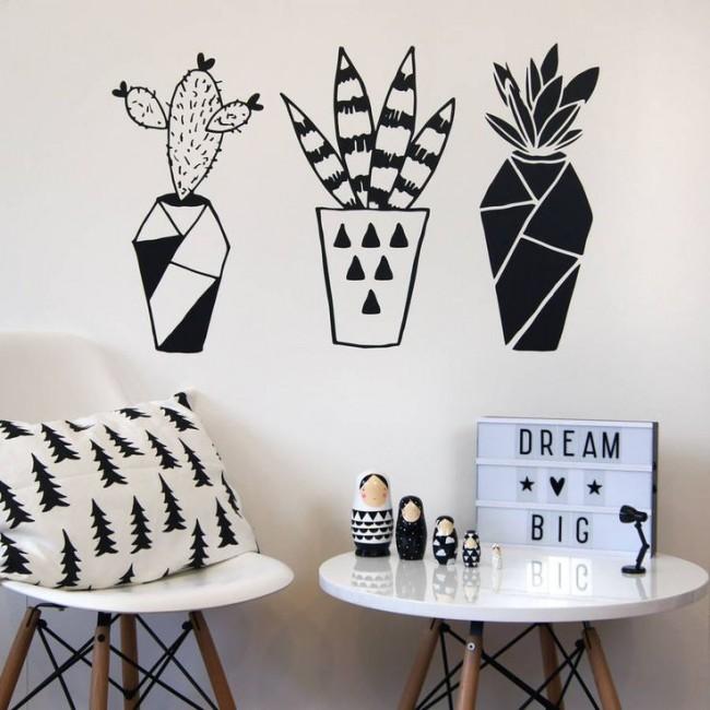 С помощью наклеек на стену можно что-то зашифровать для ваших любимых...например воспоминания о жарком отдыхе)