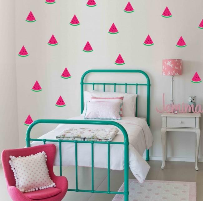 Вкусные арбузики - сочные акценты в детской комнате