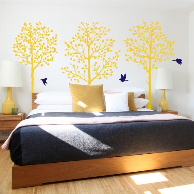 Деревья в спальне, которые никогда не сбросят листья