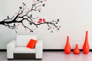Фото 17 70+ декоративных наклеек для интерьера на стены (фото, видео)