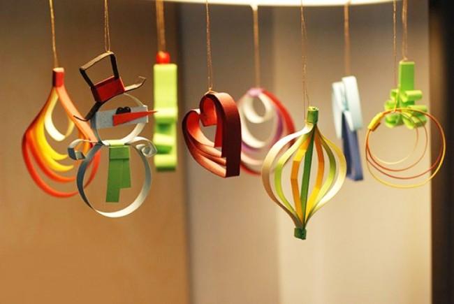 Новогодние украшения из бумаги придадут оригинальности вашей елке