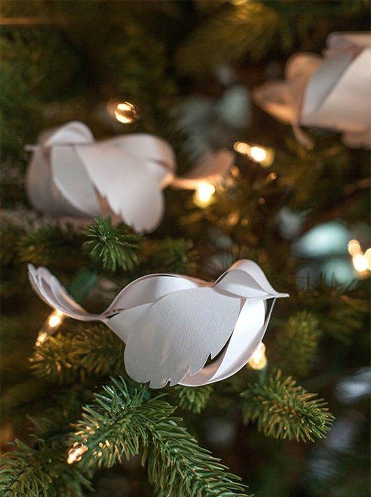 Новогодние птички своими руками из бумаги