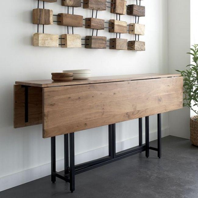 Подобный стол-трансформер подойдет для кухни небольших размеров