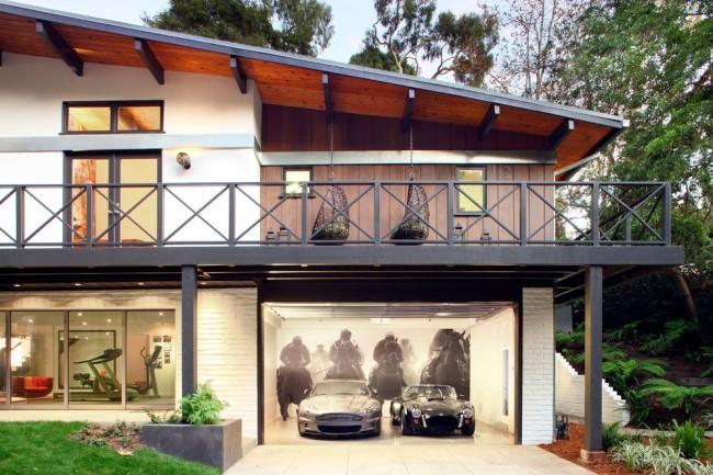3Д изображение в дизайне гаража загородного дома