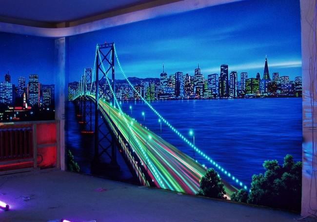Ночной город со светодиодной подсветкой смотрится великолепно