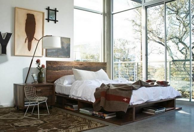 Шерстяное одеяло на белой постели