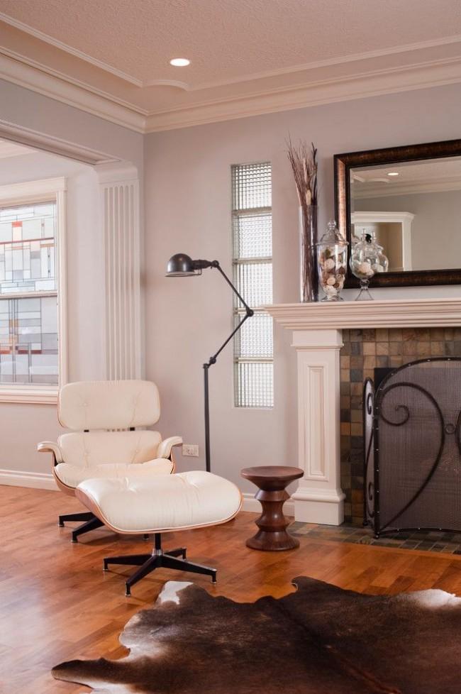 Изящные пилястры будут хорошо выглядеть и в обычной квартире, не в просторных апартаментах
