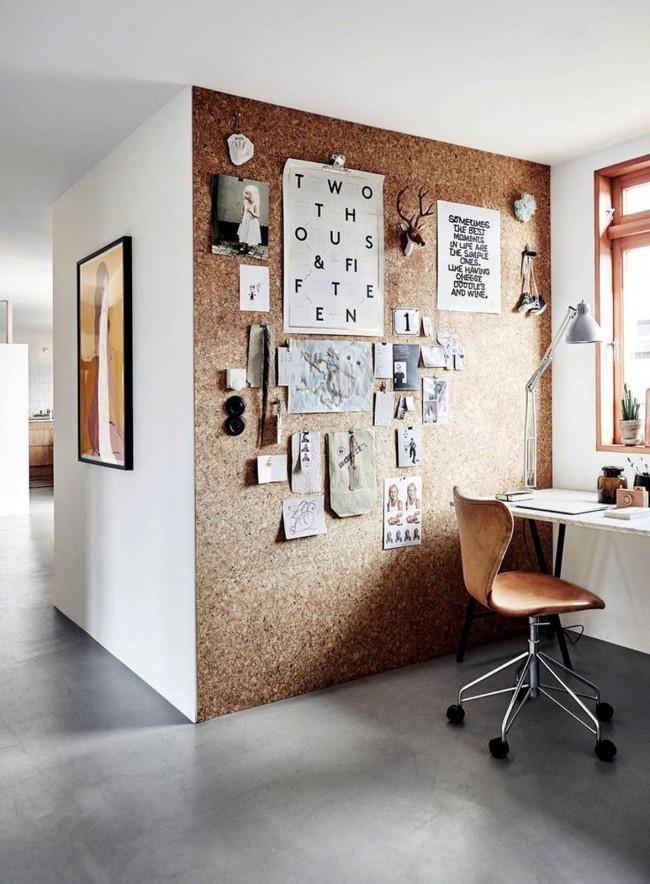 Организуйте на стене над компьютером персональный мудборд