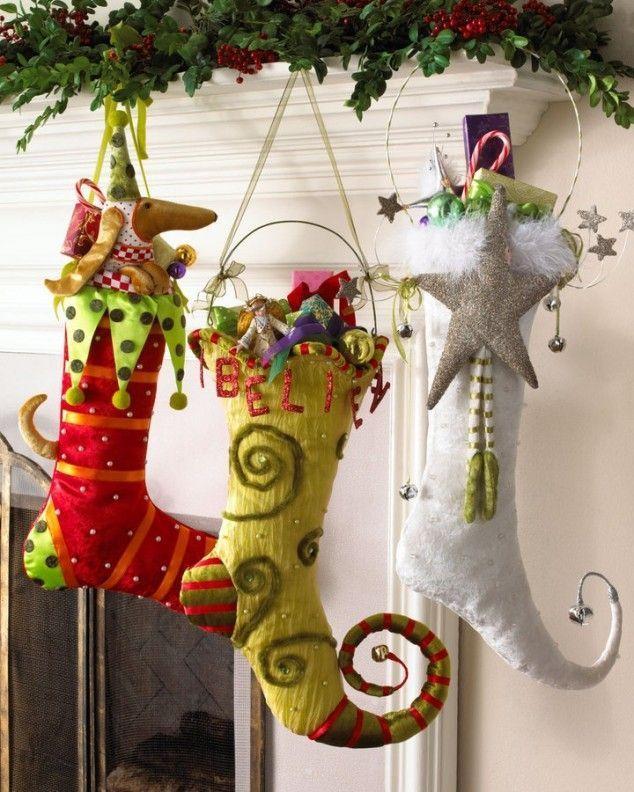 Оригинальные сапожки к Рождеству ,выполненные своими руками