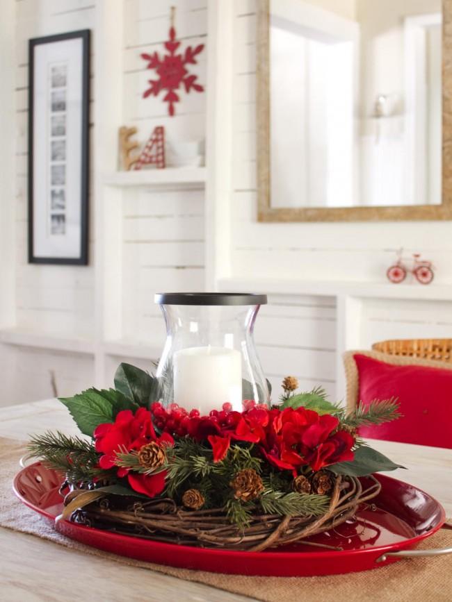Новогодняя икебана - обязательный атрибут на новогоднем столе