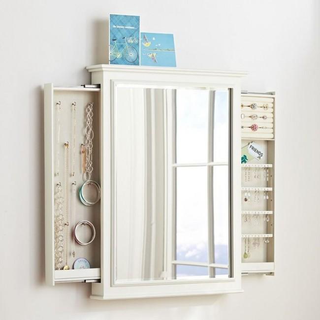 Потайной шкаф для ваших украшений замаскированный под зеркало