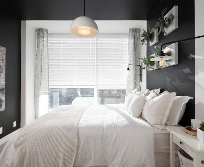Необычная озеленение небольшой спальни