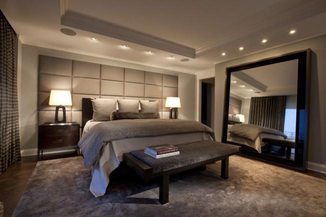 Интересное решение увеличить комнату с помощью огромного зеркала