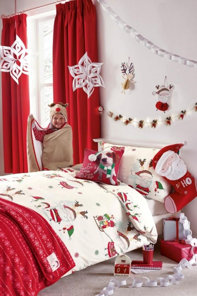 Новогоднее настроение в детской комнате
